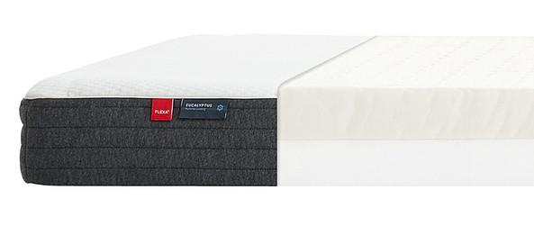 Materac lateksowy, 12x200x90cm,  tapicerka eukaliptusowa, Oeko-Tex