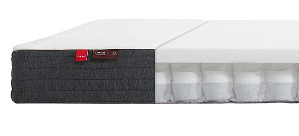Materac sprężynowy kieszeniowy, 12x200x90cm, tapicerka bawełniana, Oeko-Tex