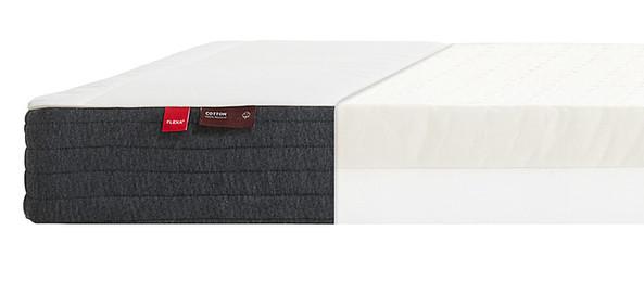 Materac lateksowy krótszy, 12x190x90cm, , tapicerka bawełniana, Oeko-Tex