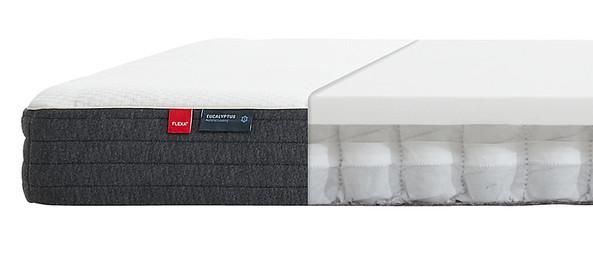 Materac sprężynowy kieszeniowy krótszy, 12x190x90cm, tapicerka eukaliptusowa