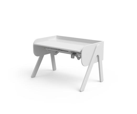 Biurko dla dzieci - Woody, sosna naturalna, białe ścianki (77x120x71cm)