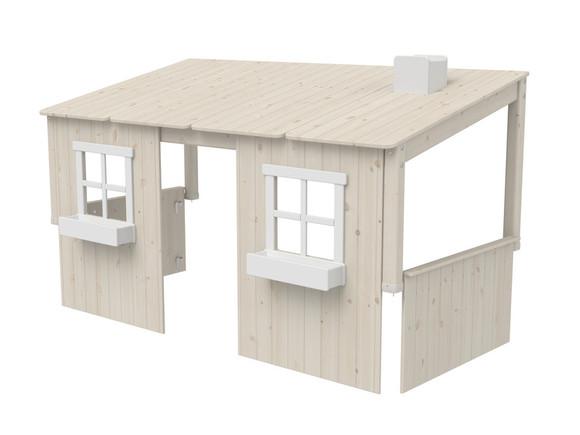 Domek - nadstawka domek na łóżko Classic, wymiar 129x210x112cm, bielony