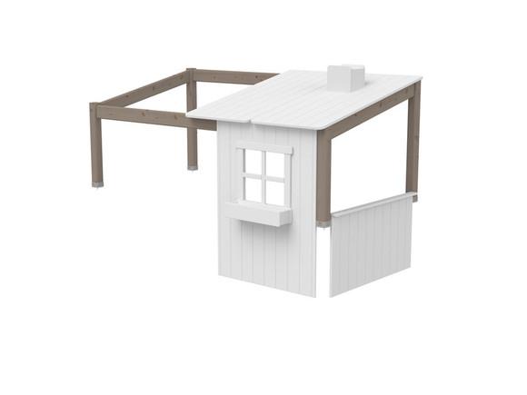 Domek-nadstawka 1/2 domku na krótsze łóżko Classic,wymiar 129x200x112cm, terra