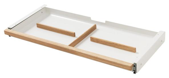 Metalowa szuflada pod biurko MOBY, organizer (5x64x33 cm)