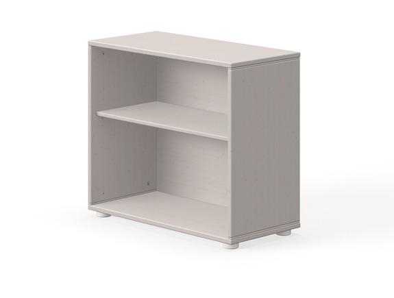 Moduł z 1 półką  wymiary: 63x72x34,5cm, sosna szara/paski białe