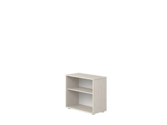Moduł z 1 półką wymiary: 63x72x34,5cm, sosna bielona/ paski białe