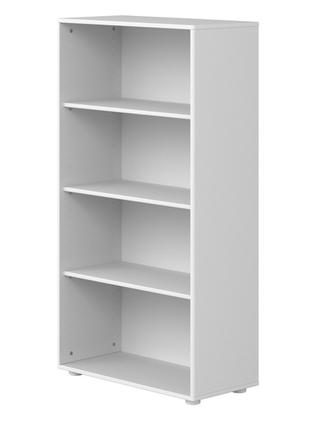 Regał z 3 półkami, MDF, biały, wymiary: 135,2x72x34,5 cm.