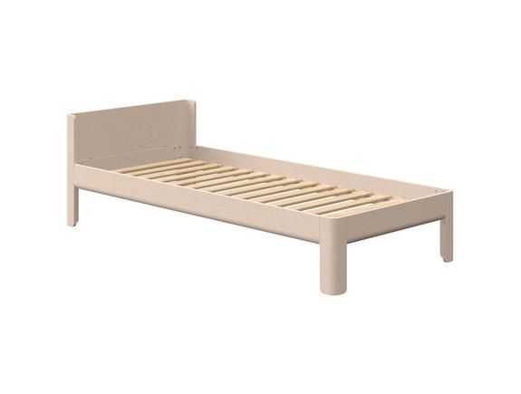 Łóżko Birk, jeden zagłowek, niskie,  brzoza, naturalna, potrzebny materac 90x200
