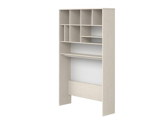 Nadstawka wysoka nad biurko, 202,5x125,6x34,5cm, sosna bielona/ paski białe