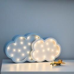 Lampka LED Chmurka, sosna, biało-niebieska, wym 20x40x5,5cm