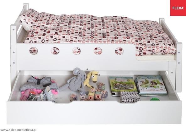 Szuflada MDFdo łóżka Junior, MDF, kółka z miękkiej gumy, 19x130x78